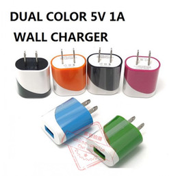 2016 Dual Colors 5W US Plug Home AC USB Power Adapter Wall Charger For All Mobile Phone Tablet Ipad Apple iPhone 6s Samsung Galaxy S6