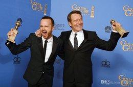 Wholesale New List st Annual Golden Globe Handsome Mens Black Two Button Suit Designer jacket Pant Vest Tie