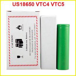US18650 VTC5 2600mAh VTC4 2100mAh 3.7V Li-ion battery clone for E cigarette Manhattan King Nemesis Stingray Mechanical mods
