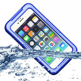 Wholesale-New Waterproof Case Diving Underwater Watertight Cover For Apple iPhone 6 4.7inch Hard PC+TPU Full Clear Waterproof