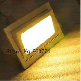 8pcs lot COB 30W LED downlight rotary Rectangular SMD Angle adjustable Bathroom Kitchen Home Indoor Ceiling +LED Driver by DHL