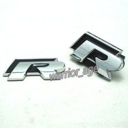 Wholesale Exterior Accessories Emblems RLine Front Grille Rear Truck Emblem Decal For VW Golf Jetta Passat Polo CC