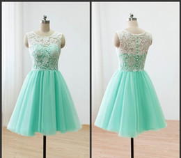 2019 Lace Appliques Cocktail Dresses Vintage A-Line Mini Short Sheer Straps See Through Homecoming Party Dress Real Photos Prom Pageant Gown