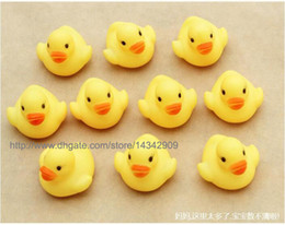 1000pcs lot New Baby Bath Water Toy toys Sounds Yellow Rubber Ducks Kids Bathe Children Swiming Beach Duck Ducks Gifts
