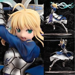 Japanese Anime Fate Stay Night Saber Lily Doll The Sword of Victory PVC Action Figures Model Toy 25cm