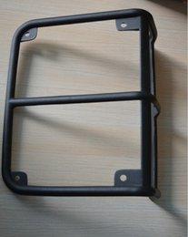 Wholesale Mopar style Aluminum alloy black powder coated rear tail light lamp frame cover suited for Jeep Jk Wrangler