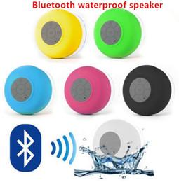 Promotion mains libres universel Haut-parleur étanche Bluetooth Haut-parleur portable sans fil mini Haut-parleur mains libres Mic douche d'aspiration haut-parleur stéréo voiture coloré noir / blanc / bleu / vert