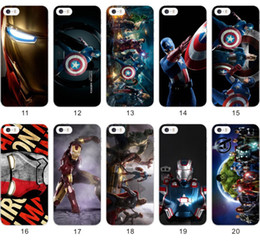 Wholesale The Avengers case Age of Ultron PC DIY Cases Caption America Thor Hulk HawkEye Iron Man Batman Back cover For iphone S S PLUS