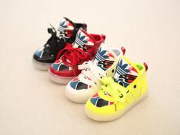 Lumières bottes à vendre-Chaussures lumineuses LED lumineuses pour enfants Motifs peinture masque Garçons, filles Chaussures enfants Chaussures enfants Chaussures