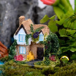 Sale dollhouse cottage villa Ornaments miniatures for fairy garden gnome resin crafts bonsai bottle garden decoration