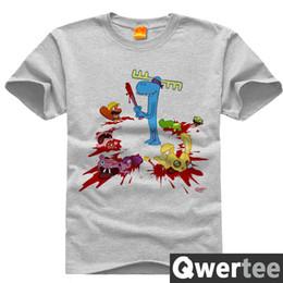 Wholesale-Free Shipping Happy Tree Friends Tshirt Cuddle Giggle Lumpy Mole Short Shirt