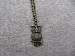 wholesale Harry Potter antique brass owl necklace antique steampunk jewelry mens gift Inspire jewelry steampunk style