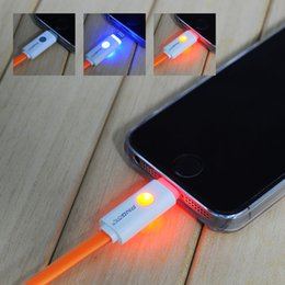 Wholesale 1M Length Super flexible high quality flat micro usb led cell phone charging cable for iphone and android mobile cable