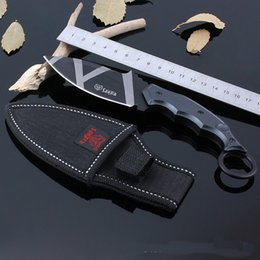 Wholesale Tactical Knife Survival Knife Newest Small Tiger Outdoor Stainless Steel Fixed Blade Hunter Nylon Sleeve Aluminium Alloy Circle Hook Sharp