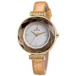 Top Brand! SKONE Luxury Women Genuine Leather Strap Watches Women Fashion Wristwatches MIYOTA 2035 Japan Movt