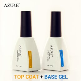 Wholesale Nails Tools Nail Gel Brand New Azure Diamond Nail Gel Top Coat Top it off Base Coat Foundation for UV