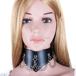 Wholesale Slave Collar Restraints Fetish BDSM Bondage Gear Party Sex Cosplay Neck Collars China As Decoration Adult Games for Women ASL XQ0107
