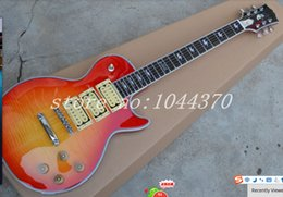Wholesale New highest quality Cherry Sunburst ACE FREHLEY Pickups One PC Neck Electric Guitar