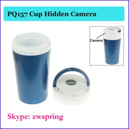 Wholesale Multi function Cup Camera hidden Video Recorder with Motion Detection Mini spy coffe cup camera Camcorders Mini DV DVR PQ157