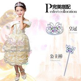 Wholesale new flower girl dress and Children s dresses Belle princess cake skirt dress stage clothes for children
