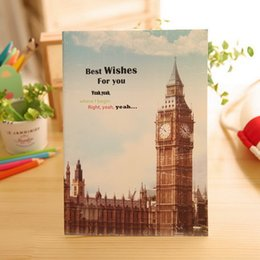Wholesale Large CM CM European architecture Suture stapler Diary Book NoteBook Pocket Notepad bz