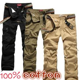 Wholesale-Plus size 30-44 Men's Cargo Pants Casual Mens Pant Multi Pocket cargos trousers Men Long pant P45