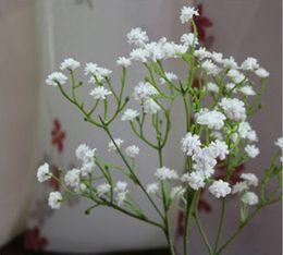 Wholesale New Arrive Gypsophila Baby s Breath Artificial Fake Silk Flowers Plant Home Wedding Decoration White cm Length