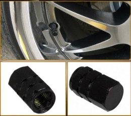 Wholesale 4Pcs Set Aluminum Alloy Wheel Tire Air Rim Valve Stem Caps For Car Truck ATV Bicycle Motorcycle Wheel Rim Black M9089