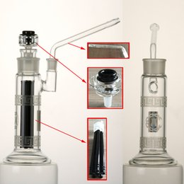 Wholesale Sand blasting detachable and easy to clean glass bong detachable arm perc quot water pipe mm female joint