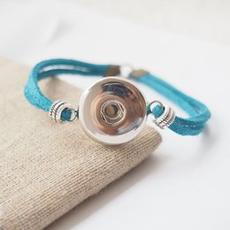 10pcs lot Silver Plated Simple Velvet Rope snap Bracelets Fit Snaps Snap Buttons 18mm Free Shipping giger snap jewelry