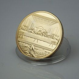 Wholesale Jesus Collection Famous Artist Da Vinci The Last Supper gold plated Coin Matel Craft