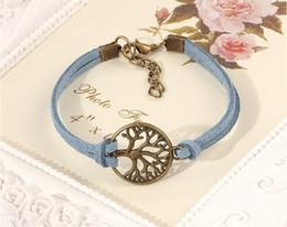 Promotion pendentifs en argent 1000pcs Livraison gratuite! Bracelet nouvel arbre de souhait, pendentif argent antique arbre souhaitent - Bracelet en cuir - Meilleur cadeau choisi, arbre de vie