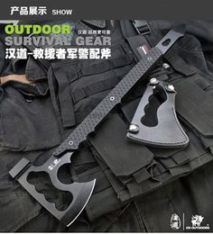 Wholesale Outdoor Military Axe Stone Wash Fine cast Hatchet and Axe Multifunction Fiberglass Handle Tomahawk Hammer camping