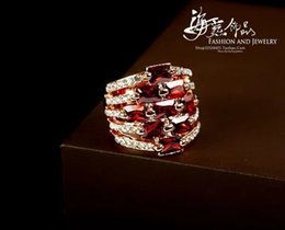 red diamond silver women's ring all size (hyspw) ty5ry