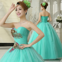 Sky Blue Purple Fashion Tulle Ball Gown Sweetheart Beaded Long Prom Dress with Flower 2019 Prom Gown
