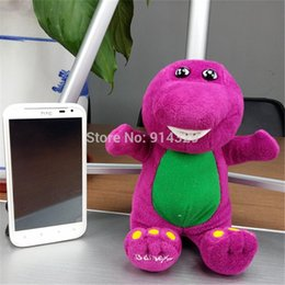 Wholesale Cute Barney the Dinosaur Plush Stuffed Toy CM TV Cartoon Soft Dolls Children Baby Kids Birthday Gift Retail pc A2