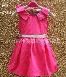 Wholesale Children Clothing Girl Sleeveless Casual Summer Dress Cotton Brand Name A Line Dress