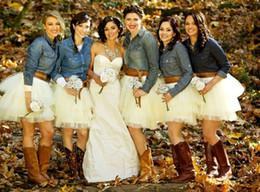 Outdoor Wedding White Tutu Bridesmaid Dresses Cheap Short Mini Length Custom Made Bridesmaid Gowns Tulle Skirt For Bridesmaid
