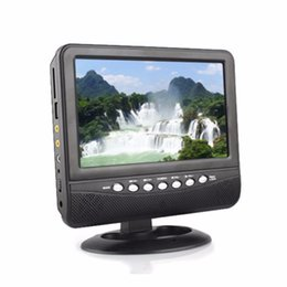 7 inch Portable LCD Analog TV Mini Monitor Digital Mobile TV FM MP3 USB Slot Car Reader MMC US  EU plug Wholesale