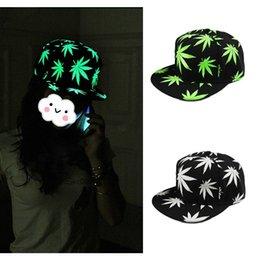 Wholesale Korean Style Noctilucous Snapback Gorras Baseball Cap Planas Touca Unisex Maple Leaf Printed Snapback Caps Hats for Men GA0070