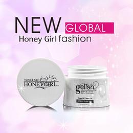 Wholesale honeygirl gelish LED UV Gel Polish Soak off Builder gel Structure gel Foundation Nail Gel Pink Clear White Nail Art ml bottle
