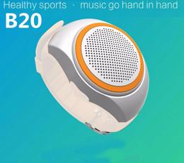 Wholesale B20 Ubit B20 Bluetooth movement Music watch Portable Mini Watch Bluetooth EDR Sport Speaker TF Card FM Audio Radio Speakers