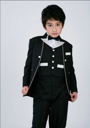 Customize Brand New Boys Formal Occasion Attire Blazer Tuxedos Kid Dress Suit Birthday Party Suits Prom Suit(Jacket+Pants+Tie+Vest ) A 62