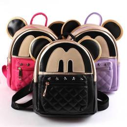 Wholesale Korean Kids Girls Model - Children Shoulders Backpacks Cute Mickey Catoon Modelling Kids Bags Fashion Leisure Schoolbag For Korean Girls
