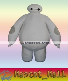 Wholesale MALL321 Inflatable Big Hero Baymax Robot Mascot Cartoon Costume For Adults Fancy Dress Halloween Party Adult Walking Apparel Adult Size