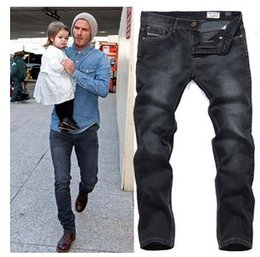 Wholesale 2015 New Fashion Designer Mens Jeans Straight Printed Jeans For Men Jeans Men Pants Big Size H961