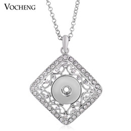 NOOSA Pendant Necklace Ginger Snap Jewelry Crystal Metal Snap Bouton with Stainless Steel Chain NN-094