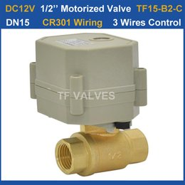 Wholesale DC12V wires electric brass valve BSP NPT On Off Time Sec CE Pressure Mpa for HVAC Heating water control systems