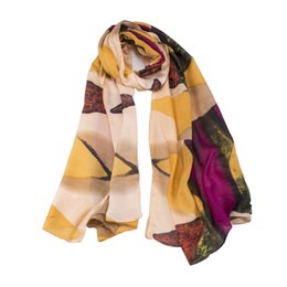 new style women high quality Silk scarf big size 90*200 Holiday shawl Factory wholesale price