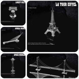 Wholesale 3D puzzle World historic sites Eiffel Tower Leaning Tower of Pisa Burj Al Arab Big Ben Empire State Building